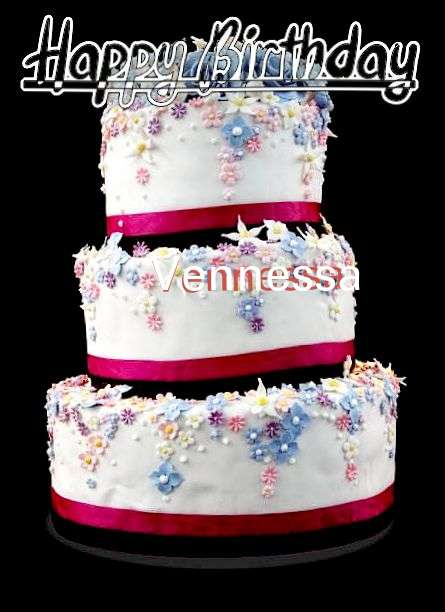 Happy Birthday Cake for Vennessa