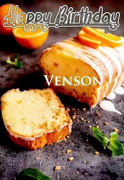 Happy Birthday Venson Cake Image
