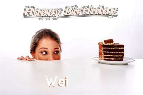 Birthday Wishes with Images of Wei
