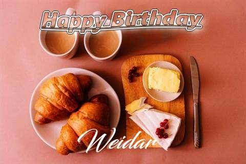 Happy Birthday Wishes for Weidar