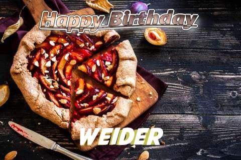 Happy Birthday Weider Cake Image