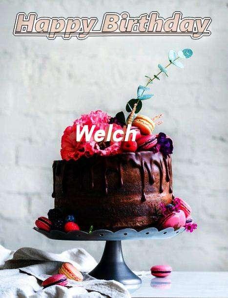 Happy Birthday Welch Cake Image