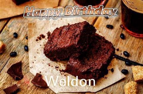 Happy Birthday Weldon Cake Image