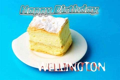Happy Birthday Wellington Cake Image