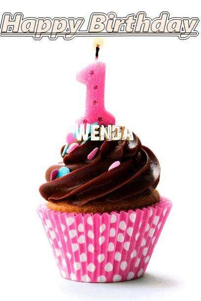 Happy Birthday Wenda Cake Image