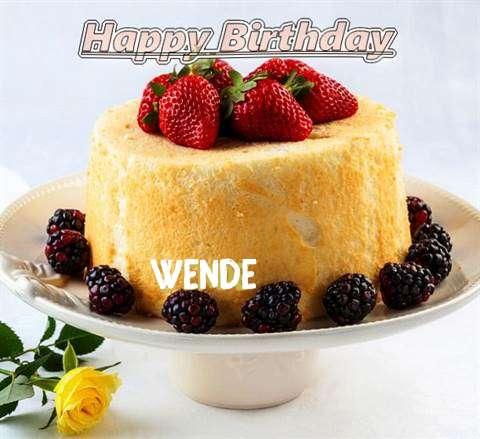Happy Birthday Wende Cake Image