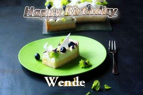 Wende Birthday Celebration
