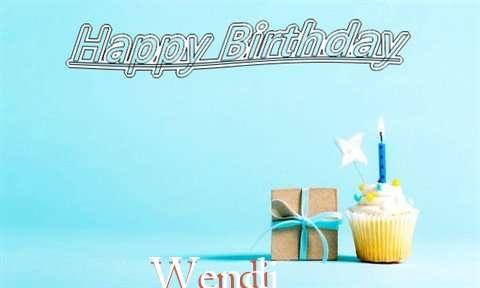 Happy Birthday Cake for Wendi