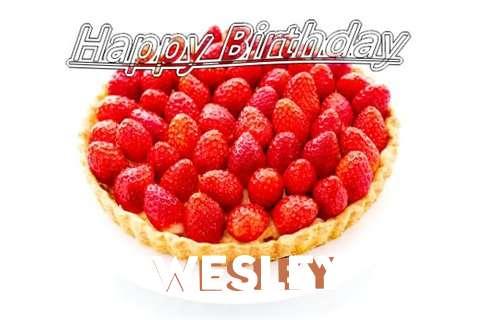 Happy Birthday Wesley Cake Image