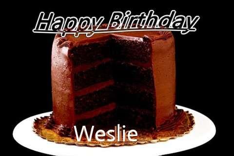 Happy Birthday Weslie Cake Image