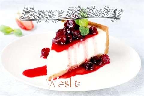 Happy Birthday to You Weslie