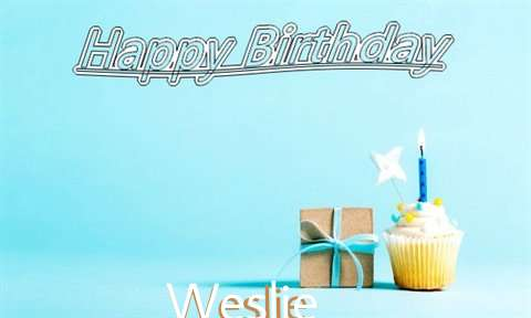 Happy Birthday Cake for Weslie