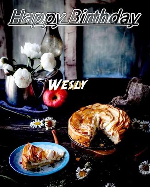 Happy Birthday Wesly Cake Image