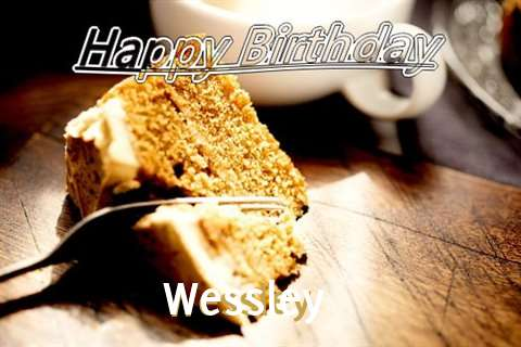 Happy Birthday Wessley Cake Image