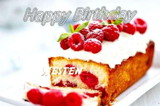 Happy Birthday Westen Cake Image