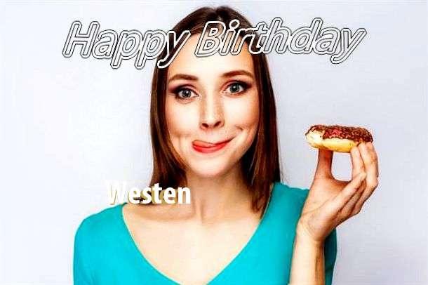 Happy Birthday Wishes for Westen