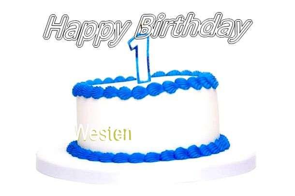 Happy Birthday Cake for Westen