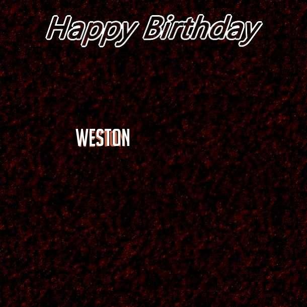Happy Birthday Weston Cake Image