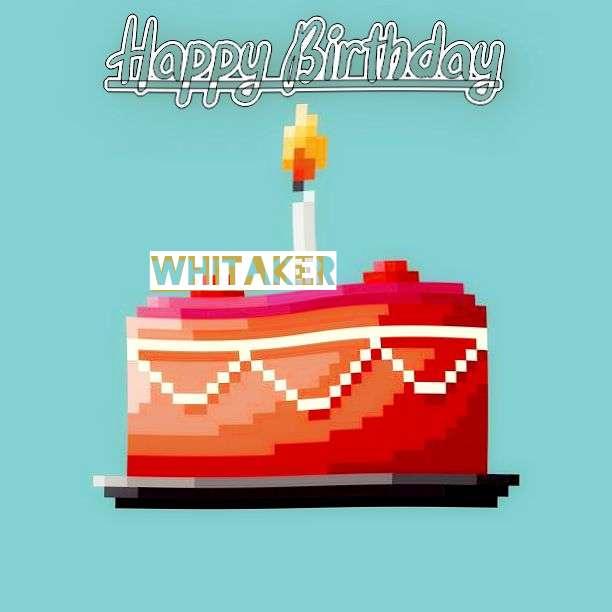 Happy Birthday Whitaker Cake Image