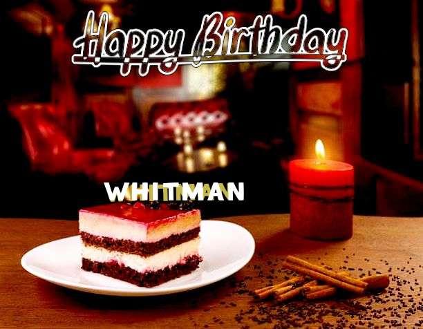 Happy Birthday Whitman Cake Image