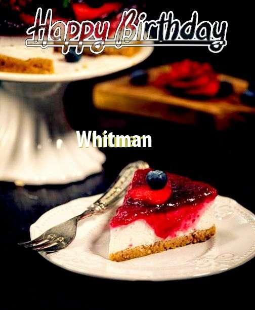 Happy Birthday Wishes for Whitman