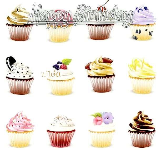 Happy Birthday Cake for Wilda