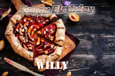 Happy Birthday Willy Cake Image
