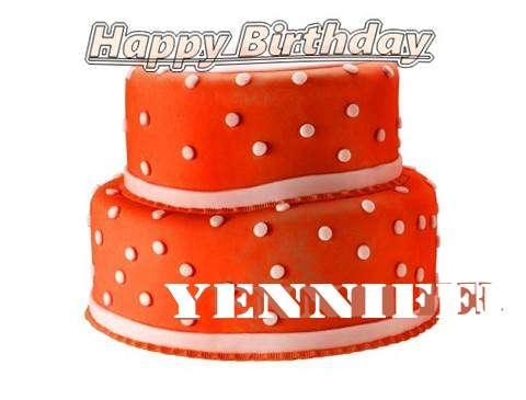 Happy Birthday Cake for Yennifer