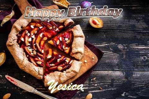 Happy Birthday Yesica Cake Image