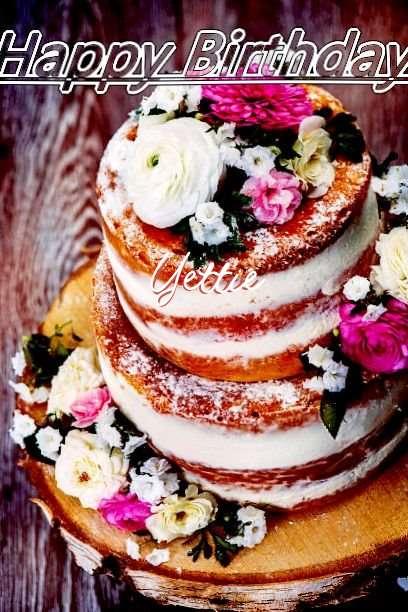 Happy Birthday Cake for Yettie