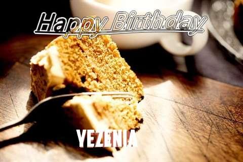 Happy Birthday Yezenia Cake Image
