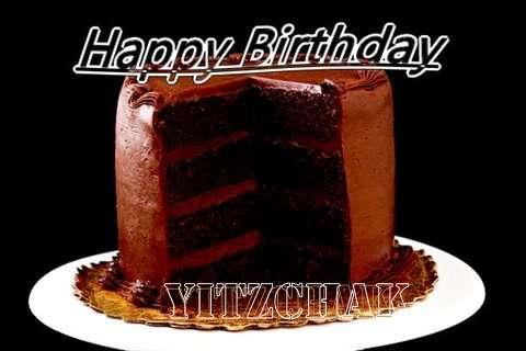 Happy Birthday Yitzchak Cake Image