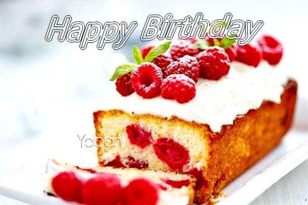 Happy Birthday Yobani Cake Image