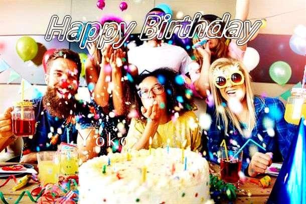 Happy Birthday Yoko Cake Image
