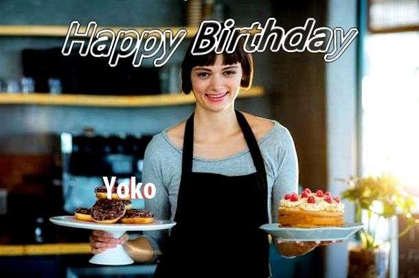 Happy Birthday Wishes for Yoko
