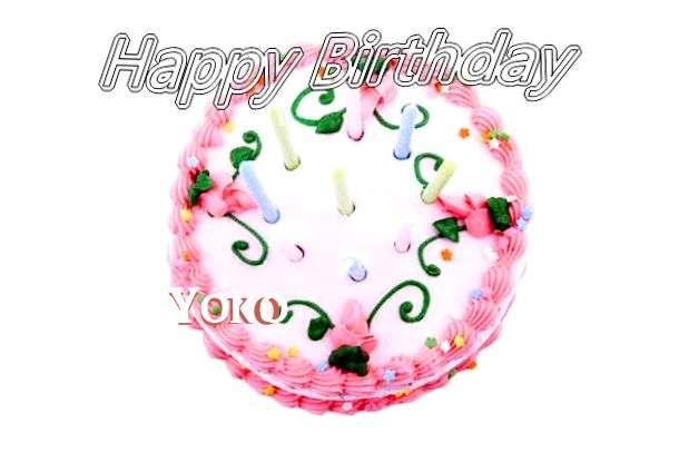 Happy Birthday Cake for Yoko