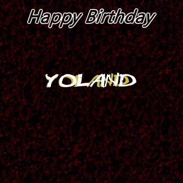 Happy Birthday Yoland Cake Image