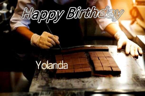 Birthday Wishes with Images of Yolanda