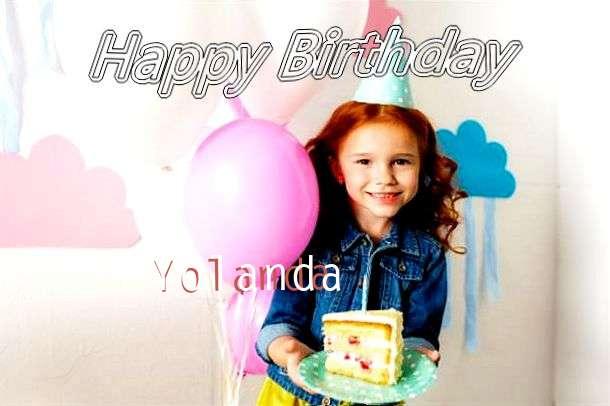 Happy Birthday Yolanda Cake Image