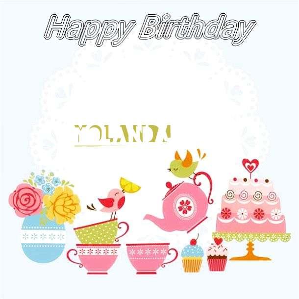 Happy Birthday Wishes for Yolanda
