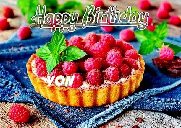 Happy Birthday Yon Cake Image