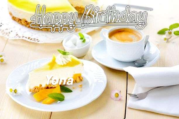 Happy Birthday Yona Cake Image