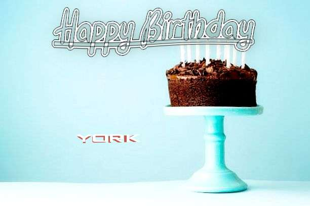 Happy Birthday Cake for York
