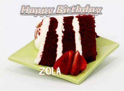 Birthday Wishes with Images of Zola
