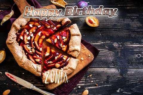 Happy Birthday Zonia Cake Image