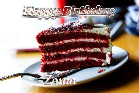 Happy Birthday Cake for Zonia