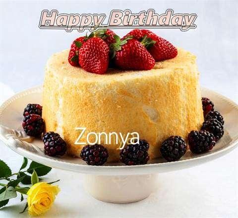 Happy Birthday Zonnya Cake Image