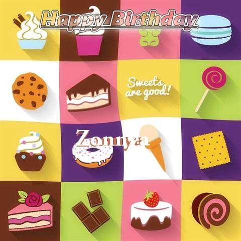 Happy Birthday Wishes for Zonnya