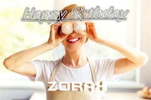 Happy Birthday Wishes for Zorah