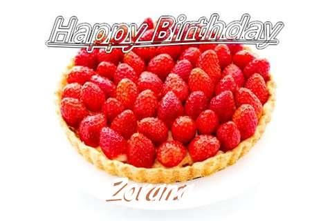 Happy Birthday Zorana Cake Image